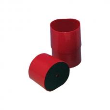 Формовка муфельная пластмассовая, малая, красная.
